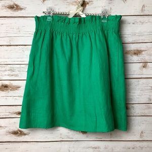 J. Crew Green Mini Skirt